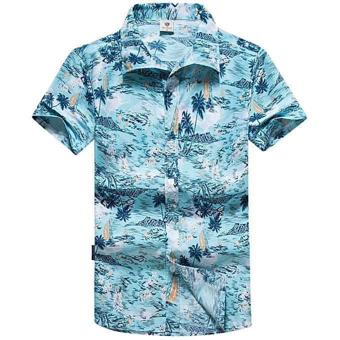 mode Pour des hommes Hawaiian Style Coconut Tree impression Quick Drying plage Shirts à prix pas cher