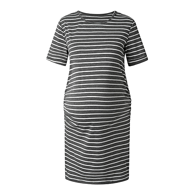 mode femmes& 039;s Maternity Bodycon Ruched Décontracté Robe For Daily Weabague Or   Shower à prix pas cher