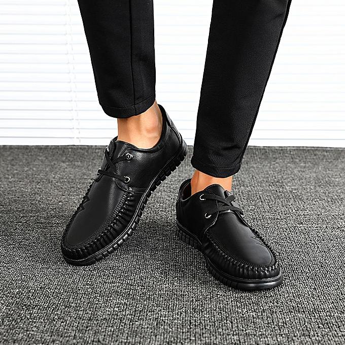 Fashion Men Business Casual chaussures Lace Up -noir à prix pas cher    Jumia Maroc