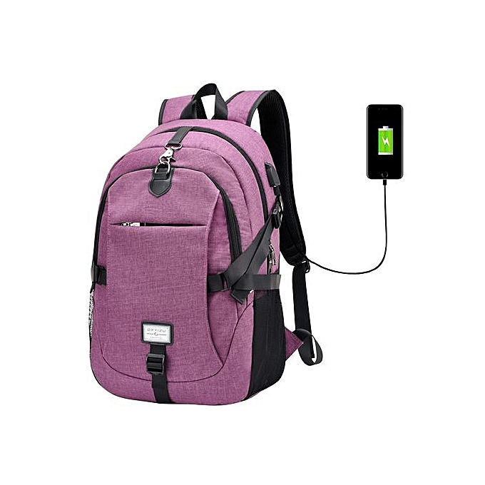 Fashion Singedan2017 Male Oxford Multifunction USB Charging Backpack College School Backpack -violet à prix pas cher