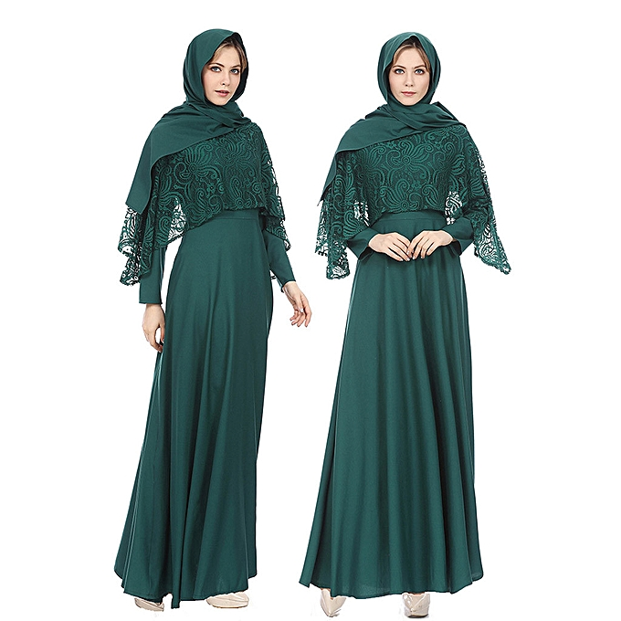 Fashion whiskyky store Muslim Lady Large Taille Clothing National Wind Robes Long Skirt Dress à prix pas cher