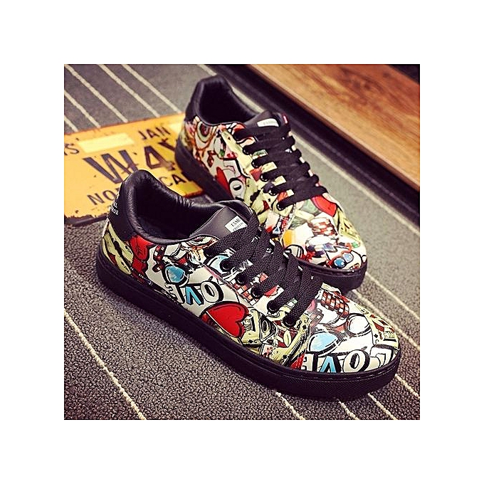 Other Korea Breathable Schoolboys' Graffiti Casual chaussures à prix pas cher