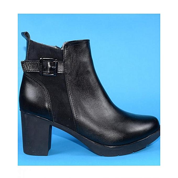 Clift Bottines Nicoletta BY43 Noir Cuir Véritable à à Véritable prix pas cher  | Jumia Maroc 993a47