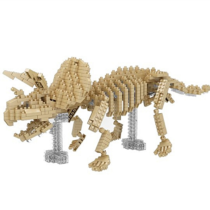 UNIVERSAL YZ Diamond Blocks Toys Horned Dinosaur Model 701PCS Building Block- à prix pas cher