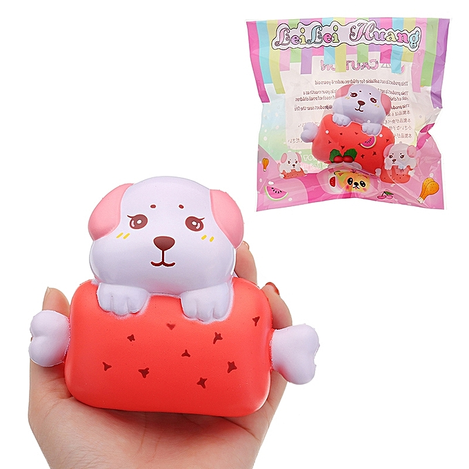 UNIVERSAL LeiLei Puppy Dog Bone Bread Squishy 11cm SFaible Rising With Packaging Collection Gift Soft Toy- à prix pas cher