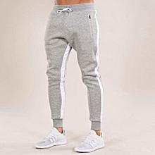 6325df1b7c0 Pantalon de survêtement gris coupe classique pour une sensation sportive