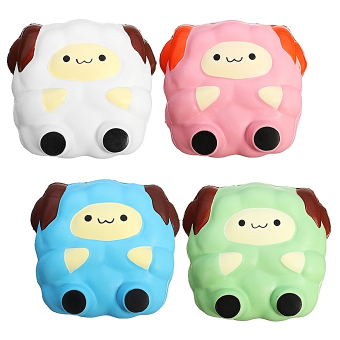 UNIVERSAL Squishy Jumbo Sheep Lamb 12cm Sweet Soft SFaible Rising Collection Gift Decor Toy-rose à prix pas cher