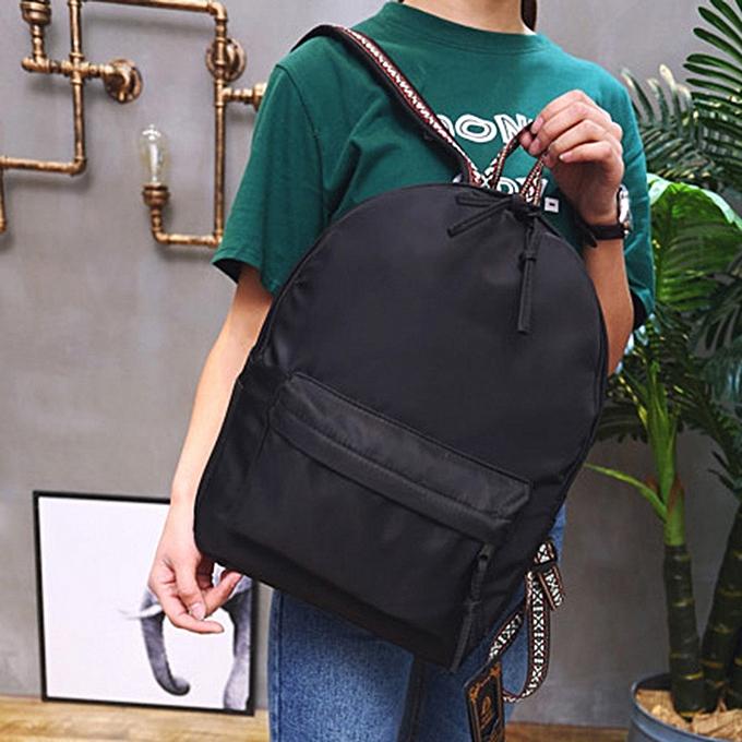 Generic Unisex Solid sac à dos School voyage Double Shoulder sac Zipper sac à prix pas cher