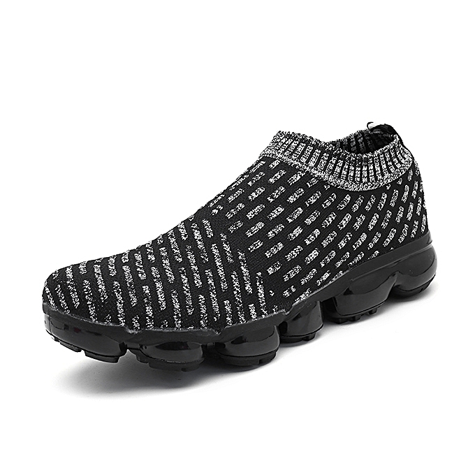 Fashion Men Casual Comfy Light Weight Knitted Fabric Slip On baskets à prix pas cher