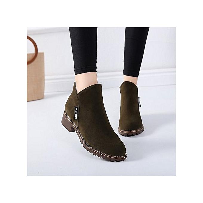 Generic Casual Low Heel Comfortable Short bottes for femmes Students à prix pas cher    Jumia Maroc