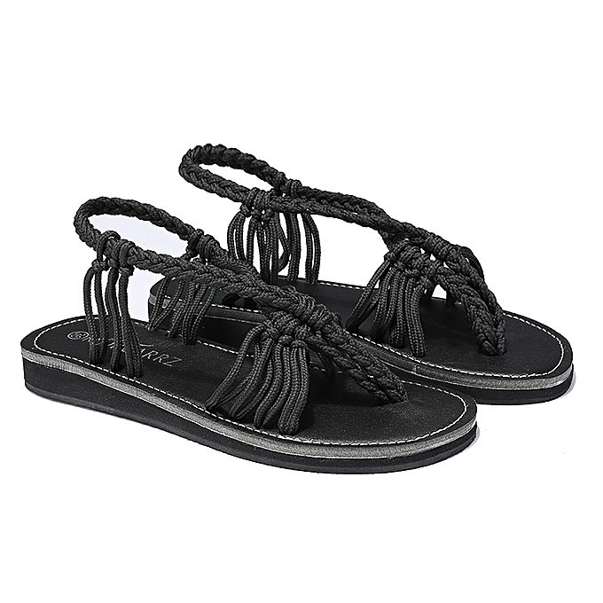 Fashion Wohommes Bohemia Slippers Weaves Strappy Gladiator Sandals Casual Open Toe chaussures à prix pas cher    Jumia Maroc