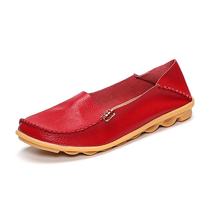 Fashion Soft Leather Round Toe Comfy Flats For femmes à prix pas cher    Jumia Maroc