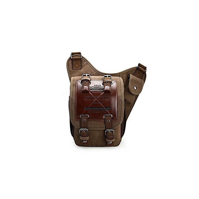 Other BERAGHINI Brand cuir Decoration Vintage Hommes Over the Shoulder sacs Male petit Sling Messenger sac toile  Saddle sac(marron) à prix pas cher