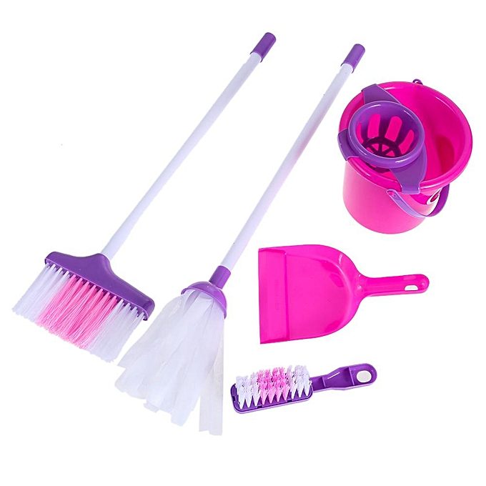 Autre Joyfeel Fun Cleaning Play Set Enfants Girls Housekeeping rose Sweep Educational toy à prix pas cher