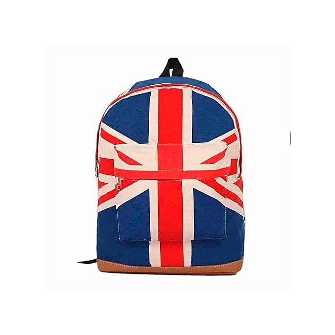 nouveauorldline UK British Flag Union Jack Style sac à dos Shoulder School Sac BackPack toile -As Shown à prix pas cher