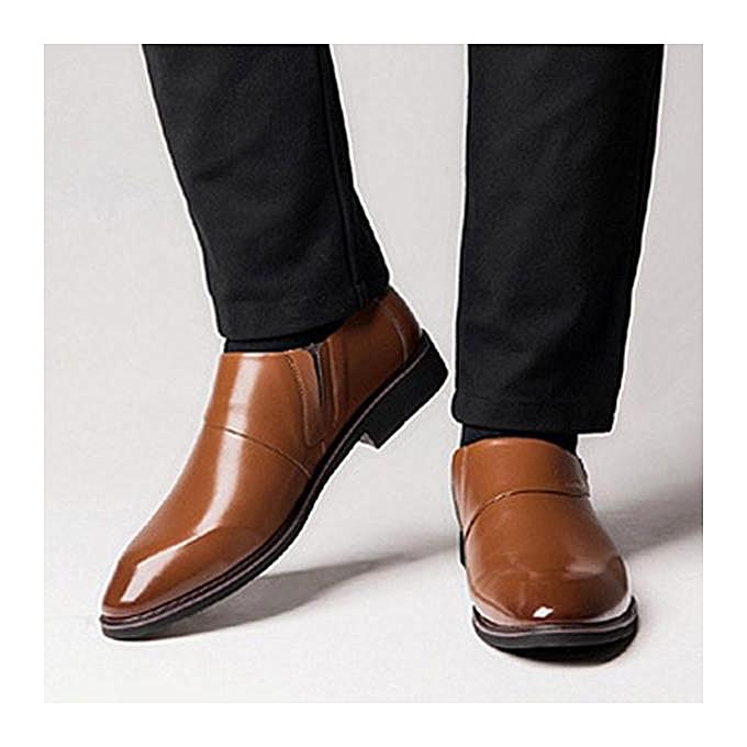 Fashion Fashion   Microfiber Leather Pointed Toe Slip On pas Formal Dress Shoes-EU à prix pas On cher    Jumia Maroc 5c9c05