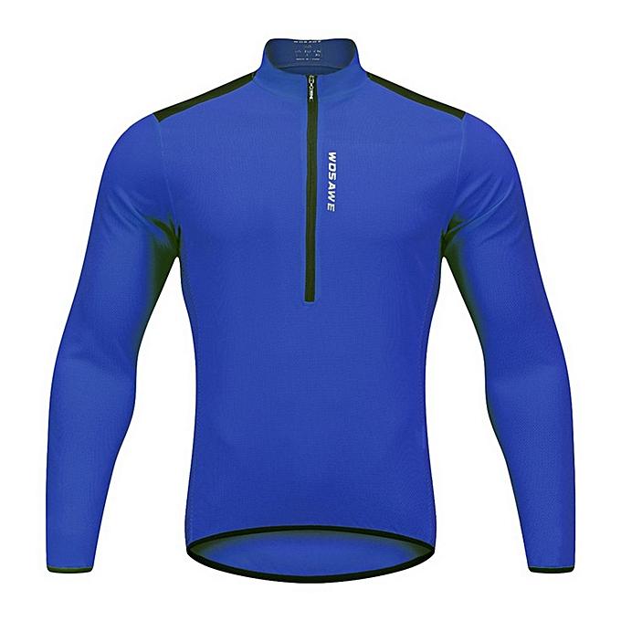 Generic BL202 Bike Riding Suit Half-open Zipper Casual Light and breathable Top à prix pas cher