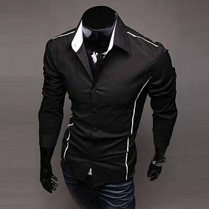 Other mode Cutting edge& 039;s mode Hommes& 039;s Décontracté manche longue Shirt à prix pas cher