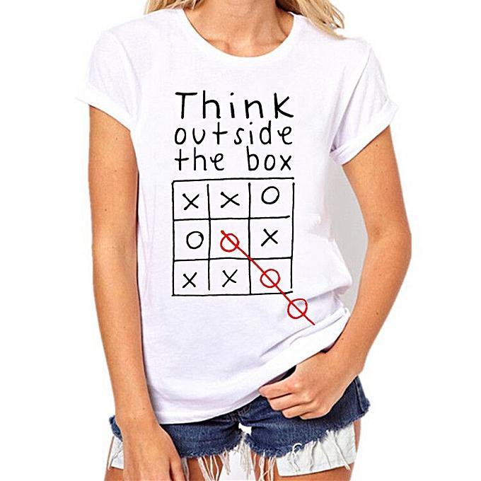 Generic Generic femmes Girls Plus Taille Print Tees Shirt manche courte Cotton chemisier hauts A1 à prix pas cher
