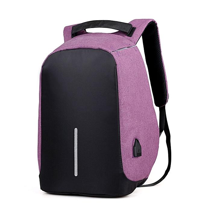 Fashion Tcetoctre Men Portable Backpack Computer Bag School Backpacks Business Travel Bags PP-violet à prix pas cher
