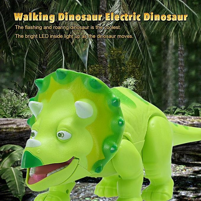 Autre Cute voituretoon en marchant Dinosaur Electric Dinosaur lumière Up Toy Figure with Sounds & Real MoveHommest & LED vert à prix pas cher