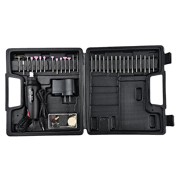 Allwin 60pc DC12V mini meule électrique micro petite perceuse électrique meule électrique noir à prix pas cher