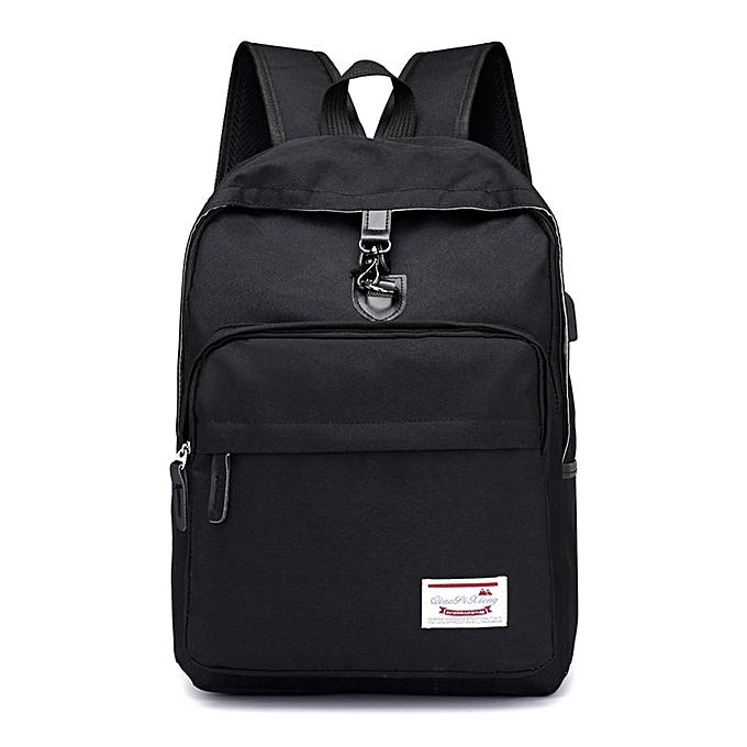 OEM Men Rechargeable Backpack School travel Nylon Double Shoulder Bag Zipper Bag à prix pas cher
