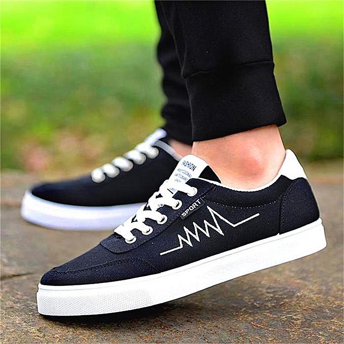 Fashion Men Casual Canvas chaussures Driving Moccasins Lace up Trainers baskets Plimsolls à prix pas cher