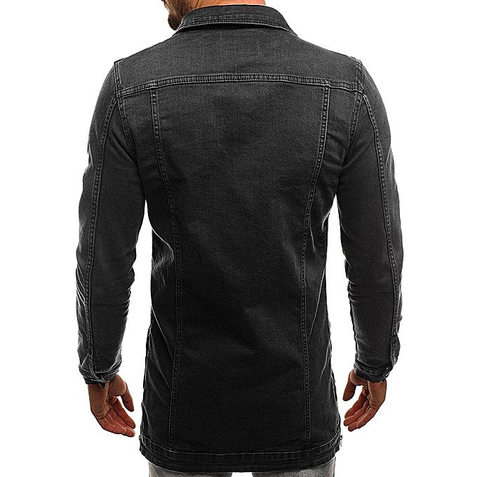 Fashion Mens' Autumn Winter Long Sleeve Vintage Distressed Demin Jacket Top Coat Outwear à prix pas cher
