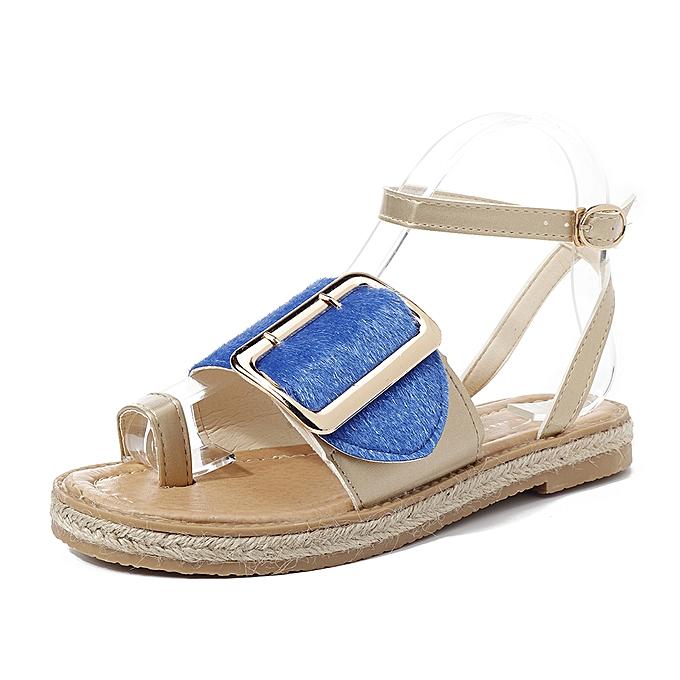 Fashion femmes Ladies Gladiator Flat Summer Sandals à prix pas cher