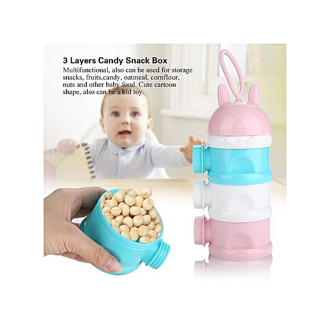 Other portable   Milk Powder Formula Dispenser Food Container 3 Layers Candy Snack Box à prix pas cher