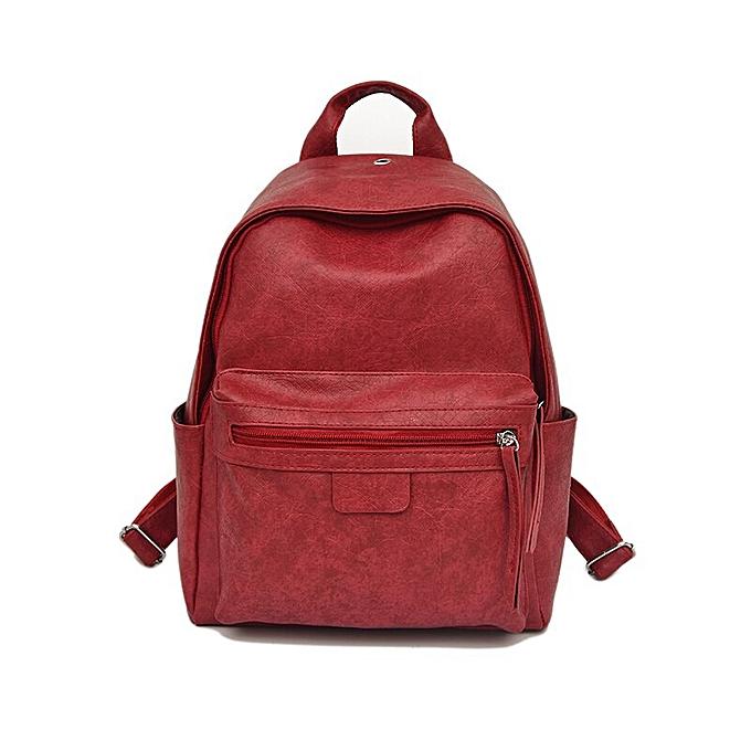Fashion Toposhine Leather femmes Backpack 2019 New Retro School Backpacks Solid PU Korean Preppy femmes Bags Fashion Travel Girl Backpacks à prix pas cher