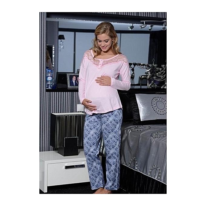3edbc15be31 Autre Pyjama 2 Pièces Femme Enceinte à prix pas cher