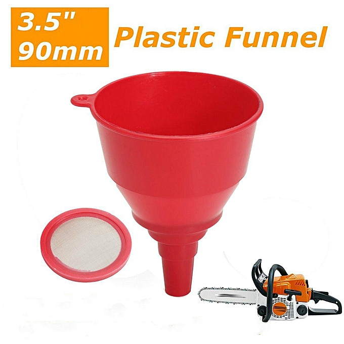 UNIVERSAL 3.5  90mm Plastic Funnel For Chainsaw Lawnmower Brushcutter Use à prix pas cher