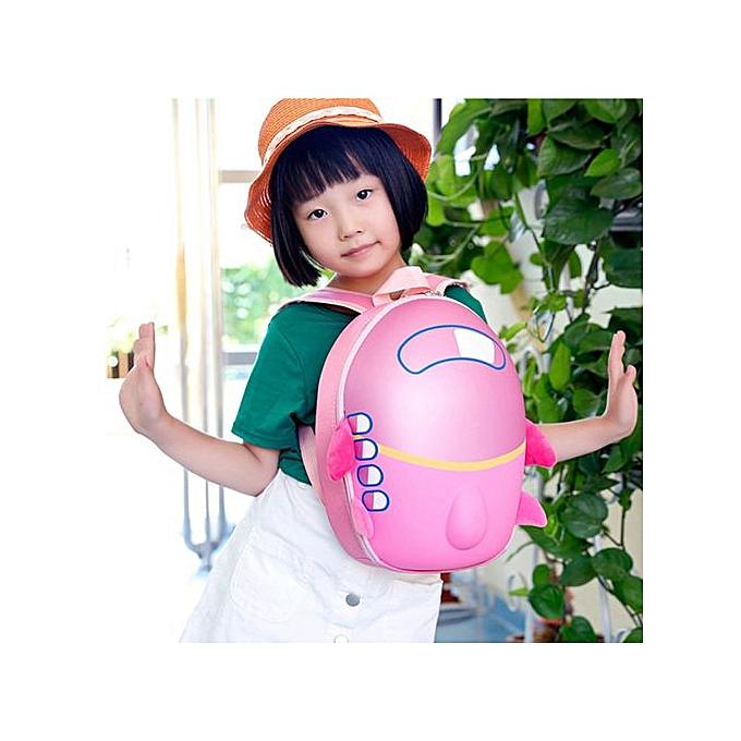 Fashion Baby Girls Boys Kids Cute Airplane Cartoon Eggshell Backpack Toddler School Bag à prix pas cher