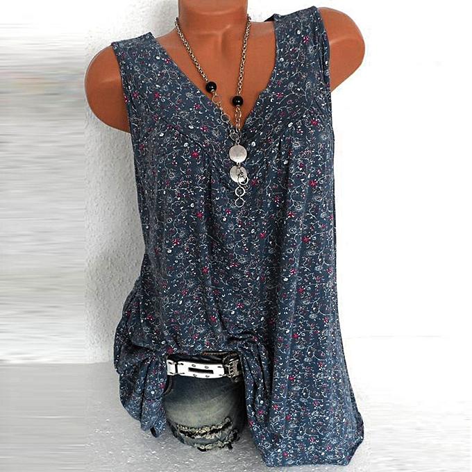 mode femmes mode chemisier V-Neck Décontracté Loose Floral Printed hauts T-Shirt chemisier à prix pas cher