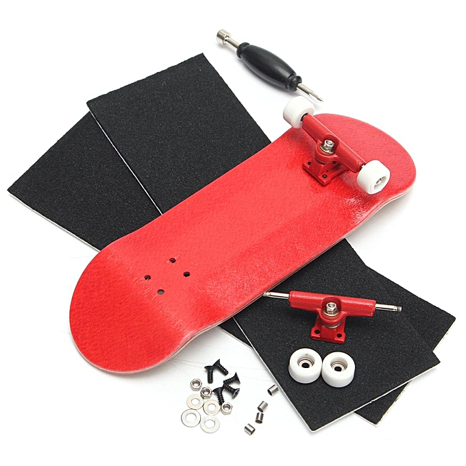 UNIVERSAL 5SET Basic Complete boisen Fingerboard Finger Scooter with Beabague Grit Box Foam Tape rouge à prix pas cher