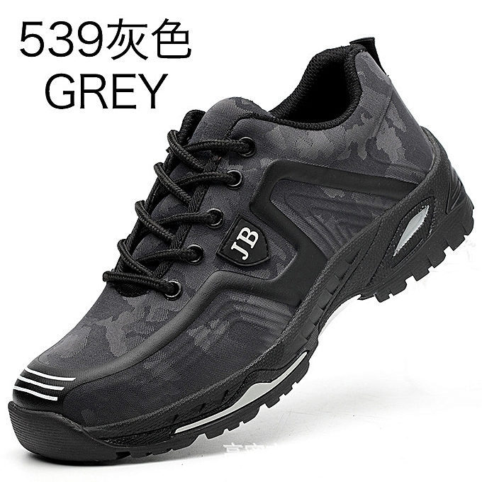 OEM Labor insurance chaussures hommes lightweight breathable chaussures steel toe caps anti-smashing anti-piercing site chaussures-gris à prix pas cher