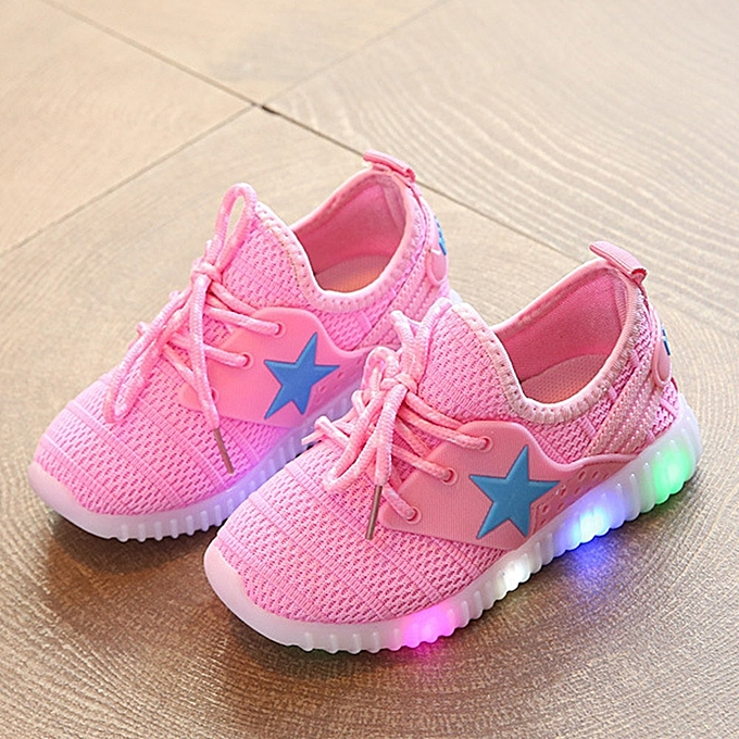 Other Stylish Lamp Sports chaussures Flying Weave Star Led chaussures for Girls -rose à prix pas cher    Jumia Maroc