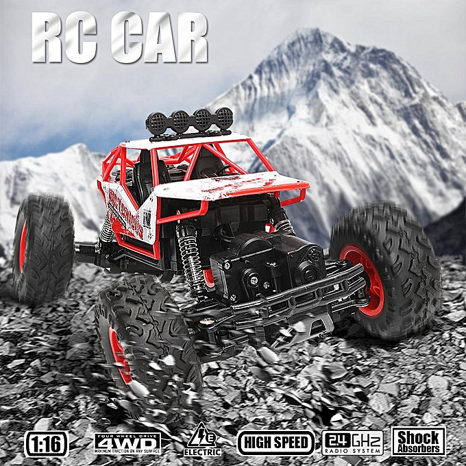 UNIVERSAL 1 16 4WD 2.4GHz High Speed Remote Control RC Racing Crawler voiture Off Road RTR Toy rouge à prix pas cher