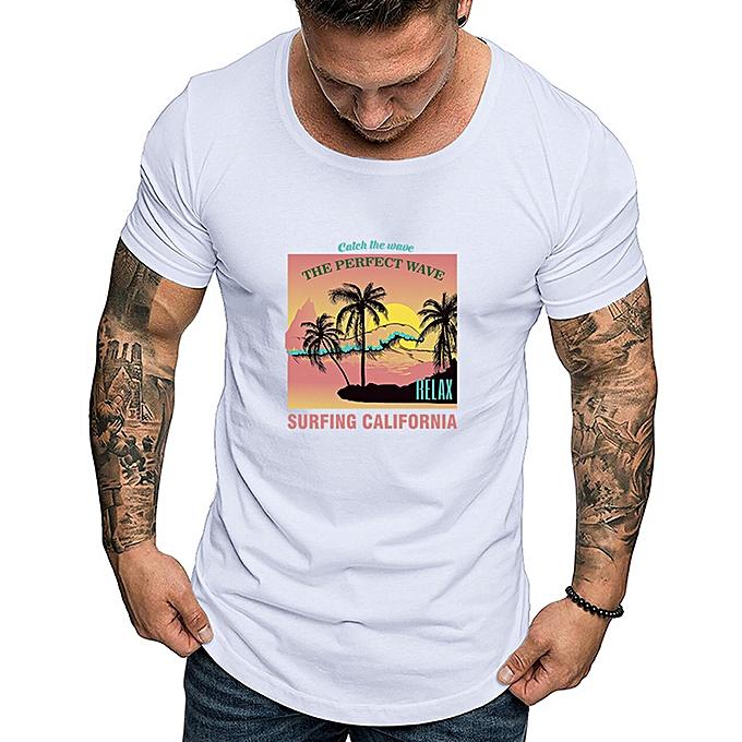 mode Hommes mode Solid impression Style Cotton Design T-shirt Décontracté Shirts hauts chemisier à prix pas cher