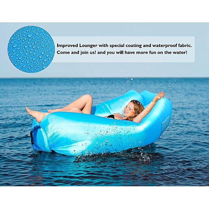 Generic Canapé gonflable - lit gonflable imperméable à l'eau, canapé gonflable comme chaise longue portatif , canapé extérieur pour camping randonnée piscine et plage  à prix pas cher