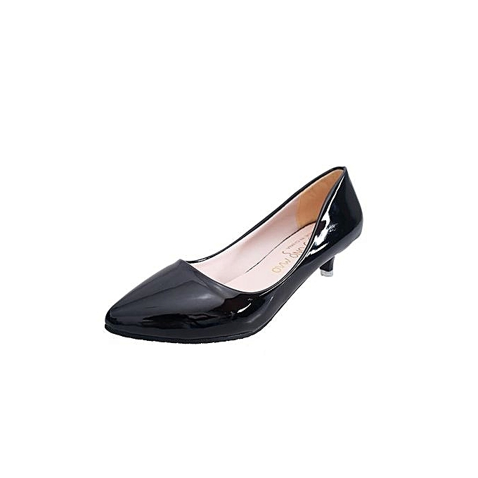 Tauntte femmes Thin Heels Pumps Shallow Pointed Toe Low Heels Office Formal chaussures (noir) à prix pas cher    Jumia Maroc