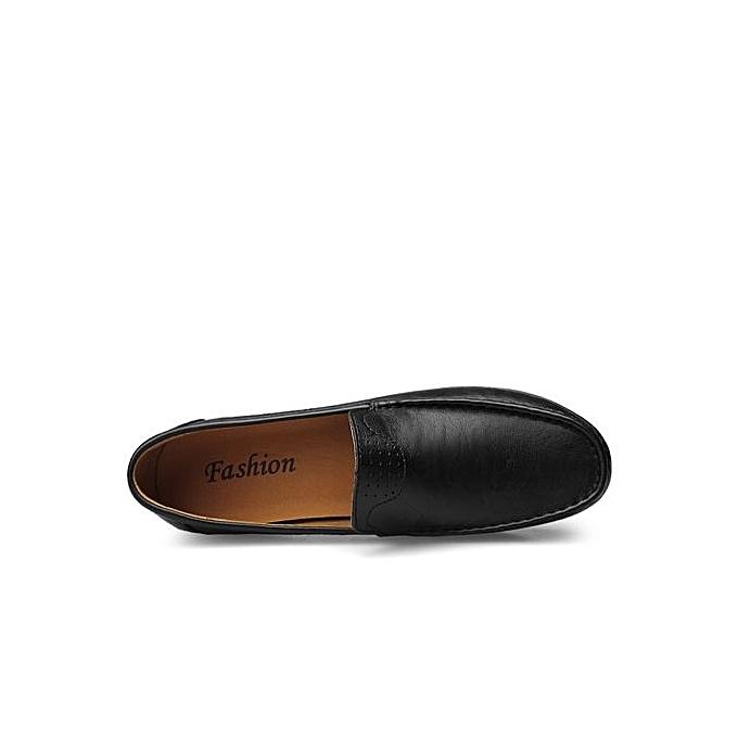 Fashion  s Slip-On Leather Loafers Classic Design-Black à à Design-Black prix pas cher  | Jumia Maroc 445000