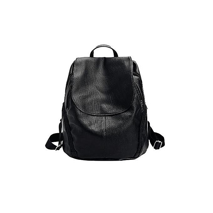 Generic Unisex Solid voyage sac à dos School sac Double Shoulder sac Handsac à prix pas cher