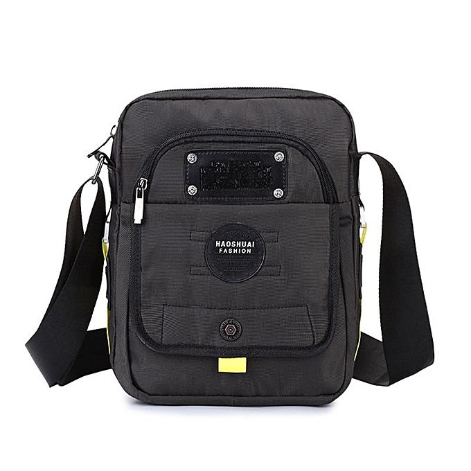 Other Waterproof Nylon Men Single Shoulder Messenger Bag Belt Pack Purse Travel Casual Tote Men's Small Handbag Crossbody Bags XA170ZC(noir) à prix pas cher