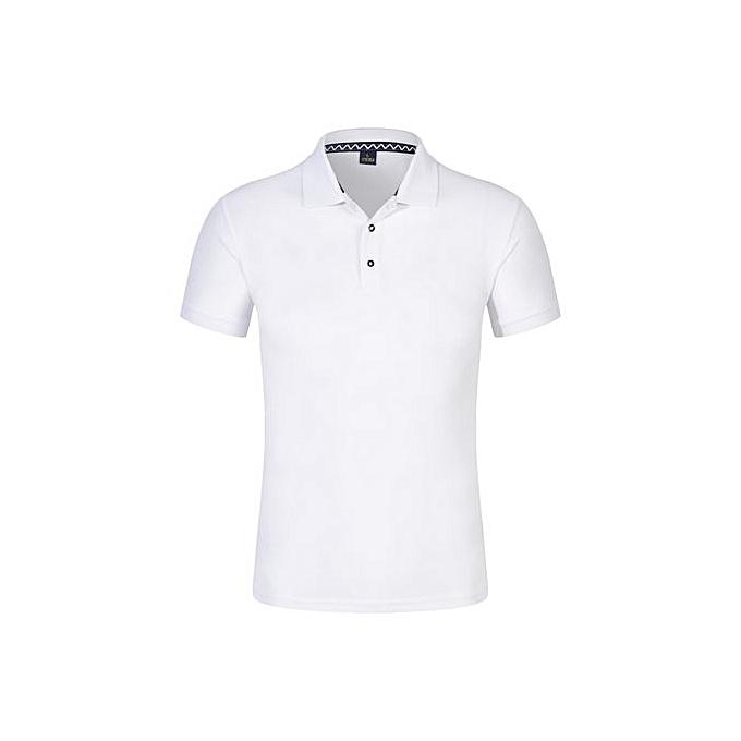 Other manche courte Turtleneck Polo Shirt Cotton Blend Cultural T Shirt-blanc à prix pas cher