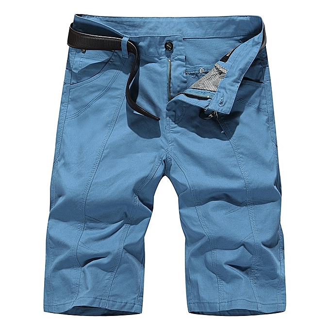 Other Men's Shorts Cotton Running Shorts Home Beach Pants(No Belt)-Navy bleu à prix pas cher