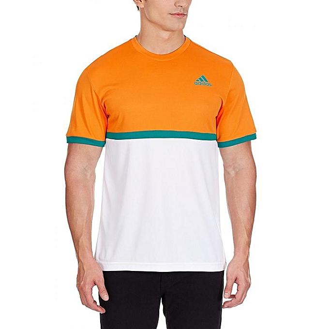 Adidas T-shirt de Tennis Orange et blanc Adidas à prix pas cher