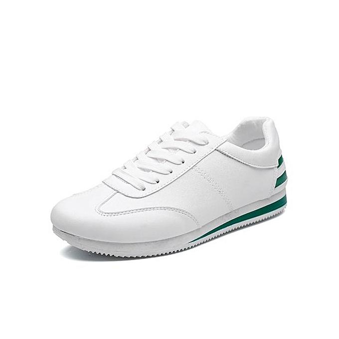 HT Pour des hommes FonctionneHommest chaussures Lace Up Athletic chaussures de plein air Walkng Jogging paniers-blanc vert à prix pas cher